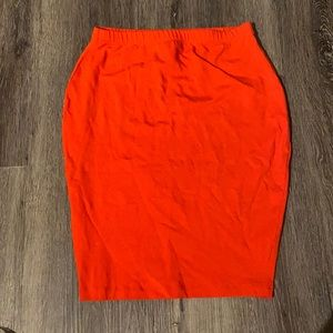 ASOS red stretchy skirt, US 4